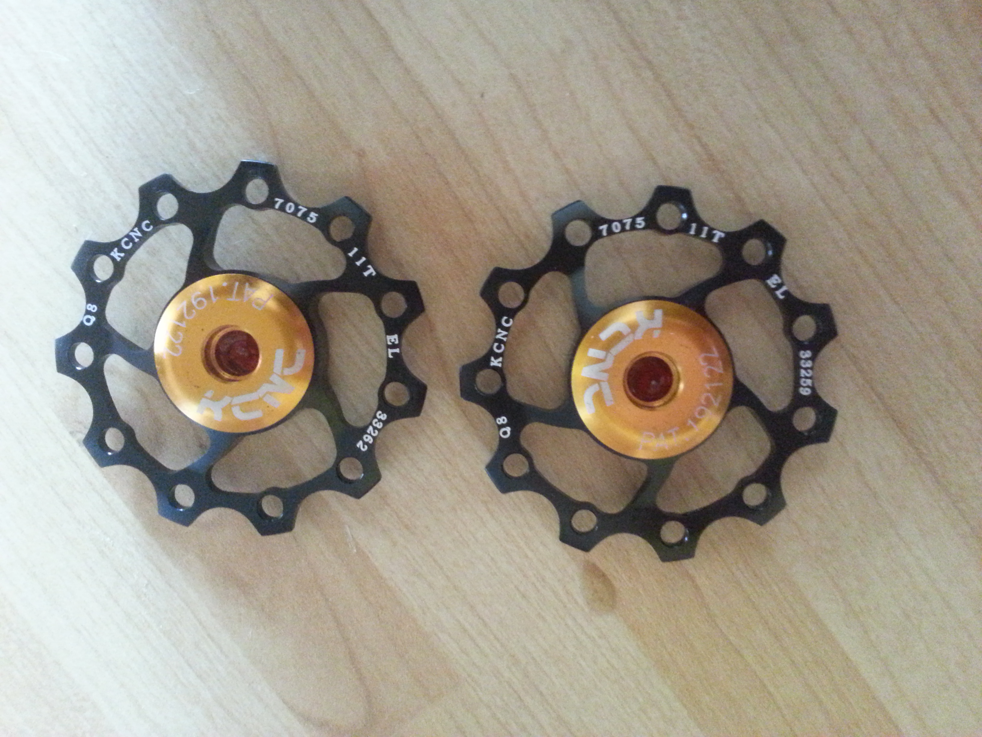 New KCNC jockey wheels for my SRAM X7 rear mech